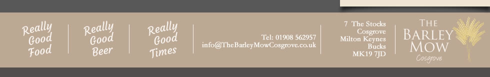 Thanks for visiting THE BARLEY MOW